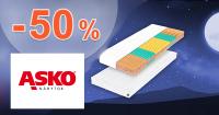 Zľava -50% na druhý matrac na ASKO-nabytok.sk