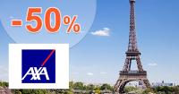 Zľava -50% na poistenie Excelent na AXA-assistance.sk