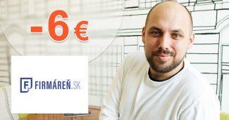 Zľava -6€ na všetky voľné živnosti na Firmaren.sk