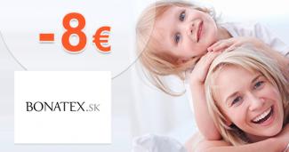 Zľava -8€ na prvý nákup na Bonatex.sk