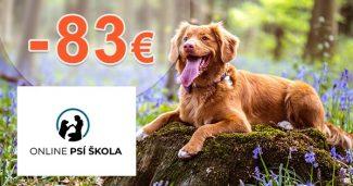 Zľava -83€ na Premium kurz na OnlinePsiaSkola.sk
