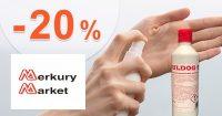 Zľava až -20% na dezinfekcie na MerkuryMarket.sk