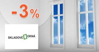 Zľava až -3% za väčší nákup na Skladove-okna.sk