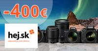 Zľava až -400€ na produkty Nikon na Hej.sk