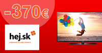 Zľava na televízor až -370€ na Hej.sk