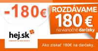 Zľavové kódy -180€ na Hej.sk na vianočné nákupy