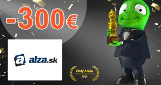 Zľavové kódy až -300€ ZĽAVY na Alza.sk