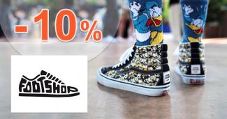 Zľavový kód -10% extra zľava na FootShop.sk