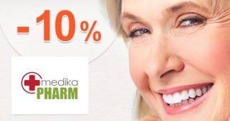 Zľavový kód -10% extra zľava na MedikaPharm.sk
