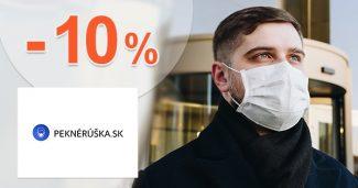 Zľavový kód -10% extra zľava na PekneRuska.sk
