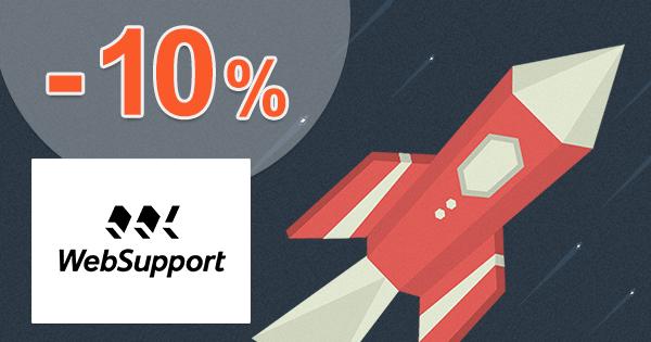 Zľavový kód -10% na Biznis hosting na WebSupport.sk