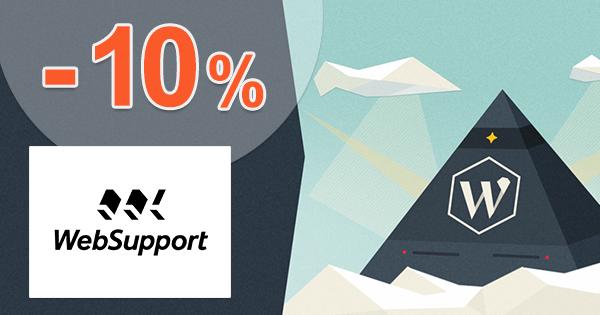 Zľavový kód -10% na The Hosting pre Wordpress na WebSupport.sk
