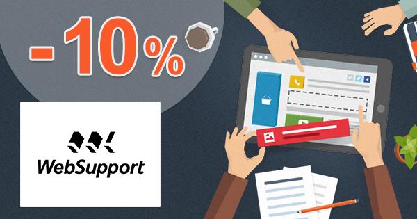 Zľavový kód -10% na Vlastnú webstránku na WebSupport.sk