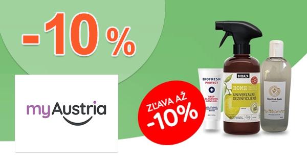 Zľavový kód -10% na dezinfekcie na myAustria.sk
