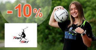 Zľavový kód -10% na futbalovú výbavu na TopSki.sk