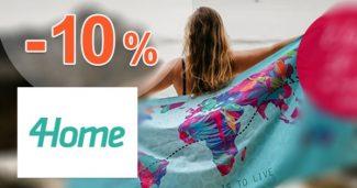 Zľavový kód -10% na kúpeľňový textil na 4Home.sk