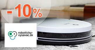 Zľavový kód -10% zľava na Roboticky-Vysavac.sk