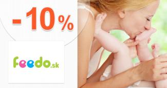 Zľavový kód -10% zľava na detský tovar na Feedo.sk
