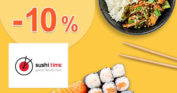 Zľavový kód -10% zľava na všetko na SushiTime.sk