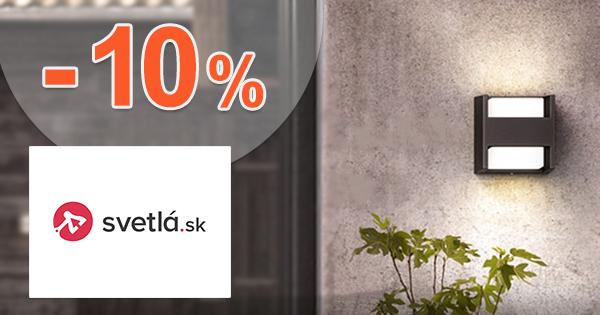 Zľavový kód -10% zľava na všetko na Svetla.sk
