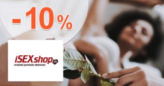 Zľavový kód -10% zľava na všetko na iSEXshop.sk