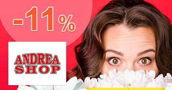 Zľavový kód -11% ZĽAVA navyše na AndreaShop.sk