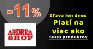 Zľavový kód -11% extra ZĽAVA na AndreaShop.sk
