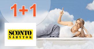 Zľavový kód 1+1 na matrace a rošty na Sconto.sk