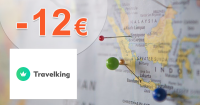 Zľavový kód -12€ zľava na pobyty na Travelking.sk