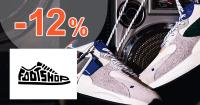 Zľavový kód -12% zľava k nákupu na FootShop.sk