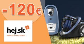 Zľavový kód -120€ zľava na vysávače na Hej.sk