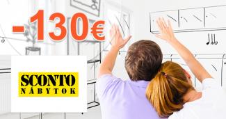 Zľavový kód -130€ zľava na nábytok na Sconto.sk