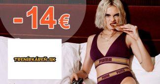 Zľavový kód -14€ zľava na všetko na Trenirkaren.sk