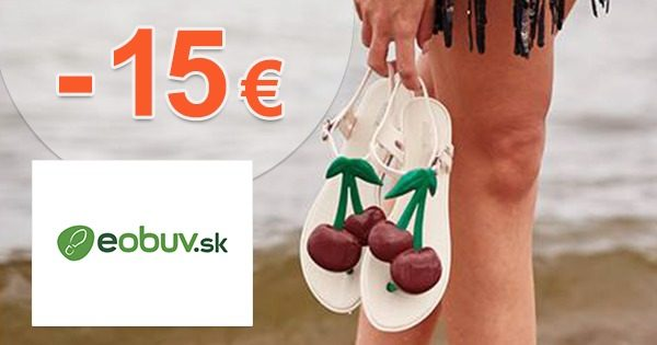 Zľavový kód -15€ na všetko nezľavnené na eObuv.sk