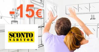 Zľavový kód -15€ zľava na nábytok na Sconto.sk