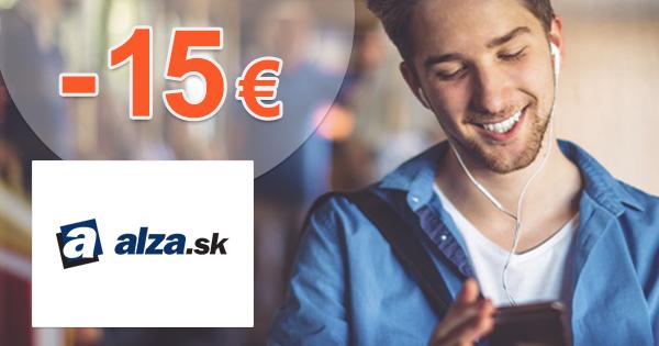 Zľavový kód -15€ zľava na slúchadlá na Alza.sk
