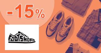 Zľavový kód -15% extra zľava na FootShop.sk