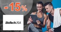 Zľavový kód -15% na BioTechUSA.sk + doprava ZDARMA