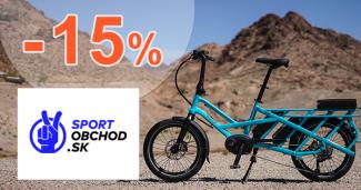 Zľavový kód -15% na Elektrobicykle na SportObchod.sk
