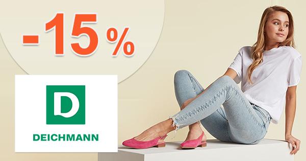 Zľavový kód -15% na TOP značky na Deichmann.sk