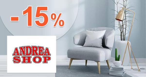 Zľavový kód -15% na nábytok na AndreaShop.sk