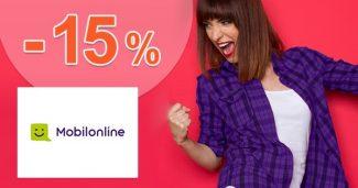 Zľavový kód -15% na smartfóny na MobilOnline.sk