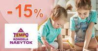 Zľavový kód -15% zľava deťom na TempoNabytok.sk