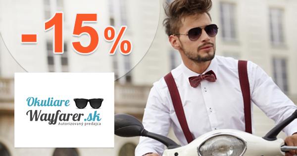 Zľavový kód -15% zľava na OkuliareWayfarer.sk