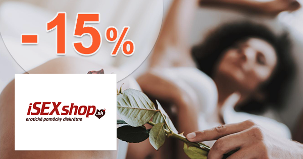 Zľavový kód -15% zľava na iSEXshop.sk