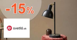 Zľavový kód -15% zľava na všetko na Svetla.sk