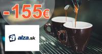 Zľavový kód -155€ na kávovary Philips na Alza.sk