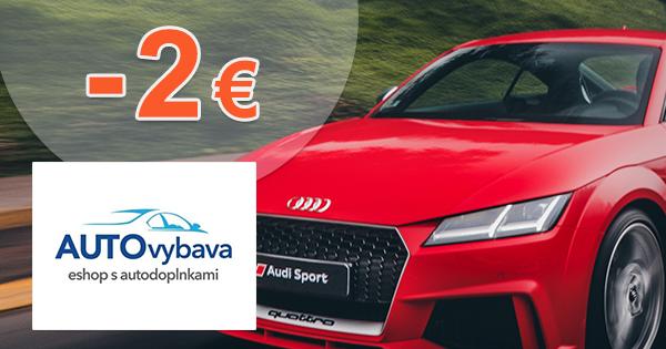 Zľavový kód -2€ zľava na AUTOvybava.sk