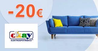 Zľavový kód -20€ zľava NA NÁBYTOK na Okay.sk
