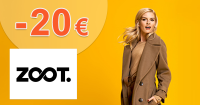 Zľavový kód -20€ zľava na módu na ZOOT.sk
